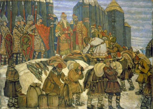 Russian_prince_takes_tribute_by_Roerich
